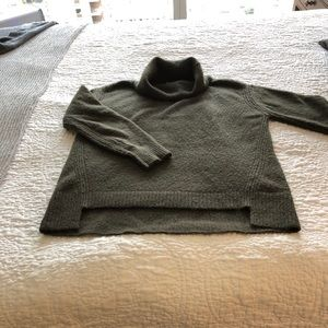 Bailey44 Olive Green oversized turtleneck sweater